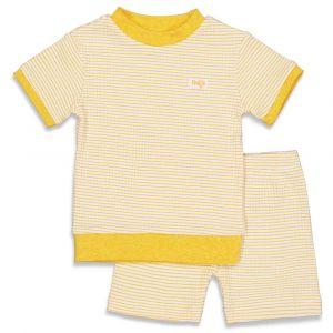 Pyjama Feetje Kort Wafel Yellow Maat 56 t/m 86