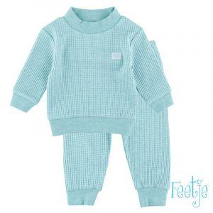 Pyjama Mini Feetje Wafel Green Melange