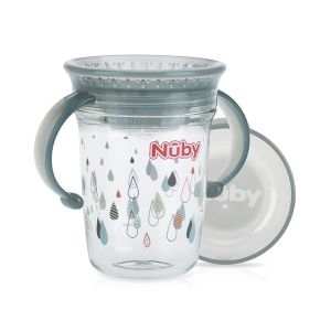 Drinkbeker Nuby Wonder Tritan Grey 240ml 6mnd+