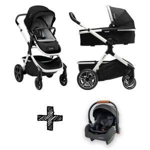 SET | Kinderwagen Nuna Demi Grow Cyber + Autostoel Premium Granite Grey