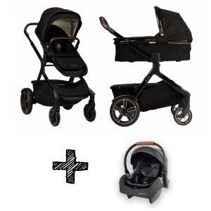 SET | Kinderwagen Nuna Demi Grow Riveted + Autostoel Premium Granite Grey