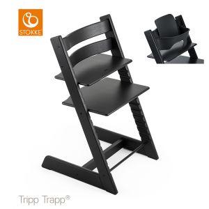 Kinderstoel Stokke® Tripp Trapp® Oak Black + Babyset