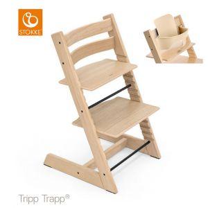Kinderstoel Stokke® Tripp Trapp® Oak Natural + Babyset