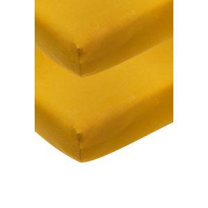 Meyco Hoeslaken 2st Wieg 40x80 Okergeel