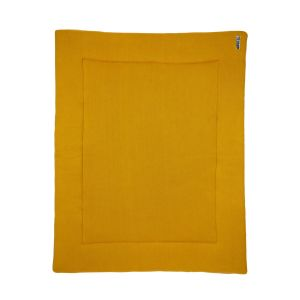 Boxkleed Meyco Knit Basic Okergeel