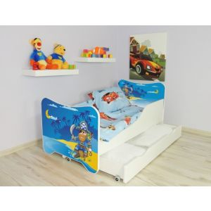 Kleuterbed Top Beds Happy 160x80 Piraat Incl. Matras + Bedlade