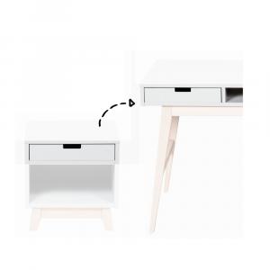 Lade Bureau/Nachtkastje Quax Trendy White