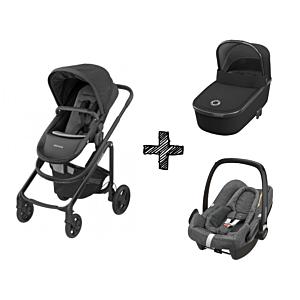 Kinderwagen 2in1 Maxi-Cosi Lila CP Essential Black + Maxi-Cosi Rock Sparkling Grey