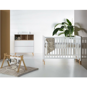 Babykamer Quax Loft White (Ledikant + Commode)