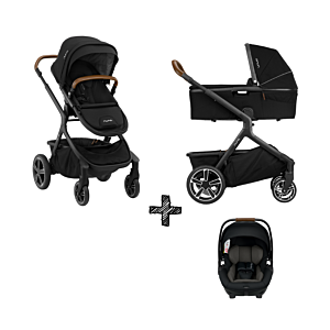 SET | Kinderwagen Nuna Demi Grow Caviar + Autostoel Nuna Arra Caviar