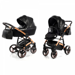 Kinderwagen Junama 3-in-1 Glitter Black incl Autostoel
