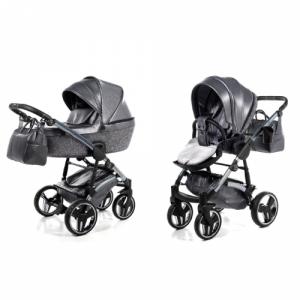 Kinderwagen Junama 3-in-1 Glitter Dark Grey incl Autostoel
