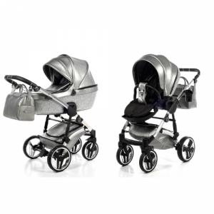 Kinderwagen Junama 3-in-1 Glitter Grey incl Autostoel