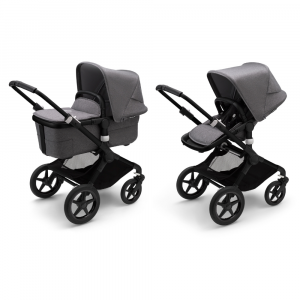 Kinderwagen Bugaboo Fox3 Black/Grey Melange