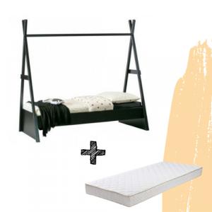 SET | Bed Woood Joep + Matras Bonell