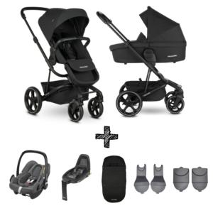 Kinderwagen Easywalker Harvey3 Shadow Black inclusief Autostoel Maxi-Cosi Rock & Accessoirepakket