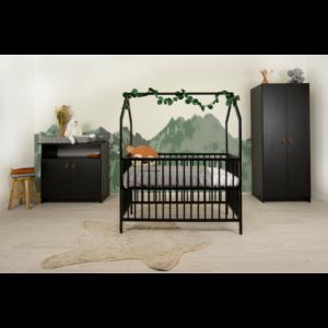 Babykamer Yara met Ledikant House Black