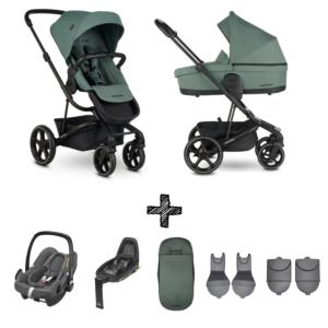 Kinderwagen Easywalker Harvey3 Forest Green inclusief Autostoel Maxi-Cosi Rock & Accessoirepakket