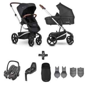 Kinderwagen Easywalker Harvey3 Premium Jet Black inclusief Autostoel Maxi-Cosi Rock & Accessoirepakket