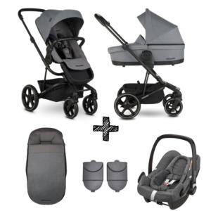 Kinderwagen Easywalker Harvey3 Fossil Grey inclusief Autostoel Maxi-Cosi Rock & Accessoirepakket