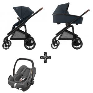 Kinderwagen Maxi-Cosi Plaza+ Essential Graphite inclusief Autostoel Rock