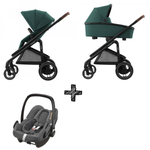 Kinderwagen Maxi-Cosi Plaza+ Essential Green inclusief Autostoel Rock