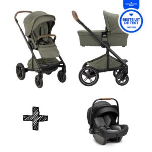 SET | Kinderwagen Nuna Mixx Next Pine + Autostoel Nuna Pipa Next Compatible Caviar