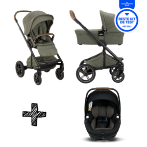 SET | Kinderwagen Nuna Mixx Next Pine + Autostoel Nuna Arra Caviar