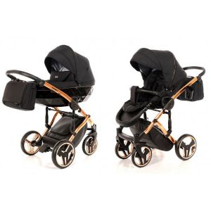 Kinderwagen Junama Individual 03 Black / Copper Frame + Gratis Wipstoel