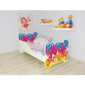 Peuterbed Top Beds Happy 140x70 Bloemen Inclusief Matras