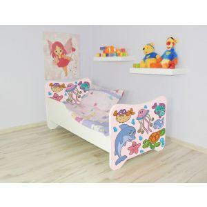 Peuterbed Top Beds Happy 140x70 Vissen Inclusief Matras