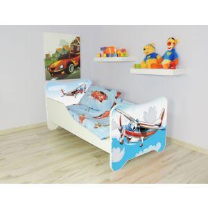 Peuterbed Top Beds Happy 140x70 Vliegtuig Inclusief Matras