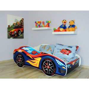 Peuterbed Top Beds Racing Car 140x70 Rood/Blauw Inclusief Matras