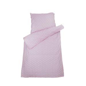 SET | Top Beds Dekbed en hoofdkussen + Dekbedovertrek Pink Stars 140x100 cm