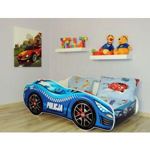 Kleuterbed Top Beds Racing Car 160x80 Politie Incl. Matras