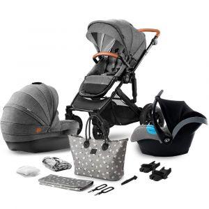 Kinderkraft Kinderwagen Prime 3-in-1 met autostoel Grey