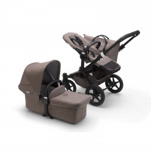 Kinderwagen Bugaboo Donkey3 Mono Compleet Mineral Taupe (Black Frame)