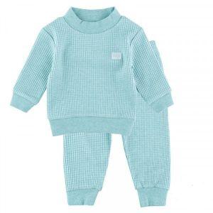 Pyjama Baby Feetje Wafel Green Melange Maat 56 t/m 86