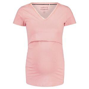 Pyjamashirt met voedingsfunctie Noppies Floor Solid Silver Pink