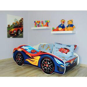Kleuterbed Top Beds Racing Car 160x80 Red/Blue Incl. Matras