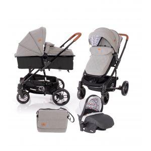 Kinderwagen 3-in-1 Lorelli S500 Dark Grey