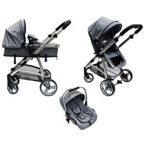 Kinderwagen + Autostoel Babycare Titan Grey Melange