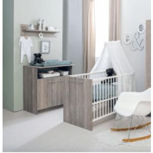 Babykamer Rene (Ledikant + Commode)