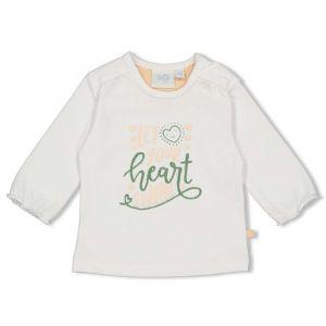 Shirt Feetje FECME21 Longsleeve Hearts Shine Wit