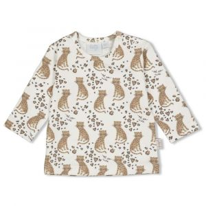 Shirt Feetje FECJA21 Longsleeve All-over Panther Cutie Offwhite