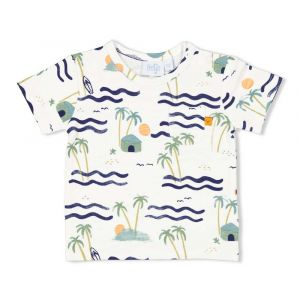 Shirt Feetje FECJA21 All-over Here Comes the Fun Wit