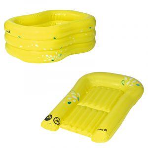 Badje + Waskussen Safety 1st. Lime Opblaasbaar