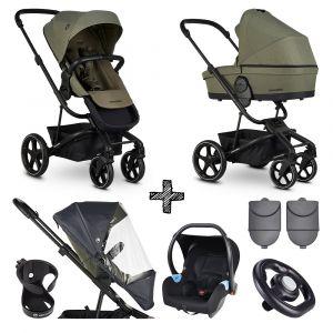 Kinderwagen Easywalker Harvey³ Sage Green + Autostoel + Accessoires
