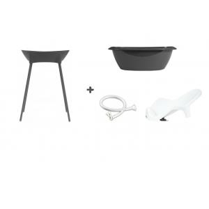 Luma Bad Dark Grey + Badstandaard Dark Grey + accessoire-set