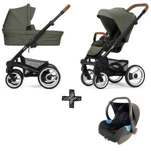 Kinderwagen Mutsy Nio 2021 - Adventure Sea Green Met Autostoel